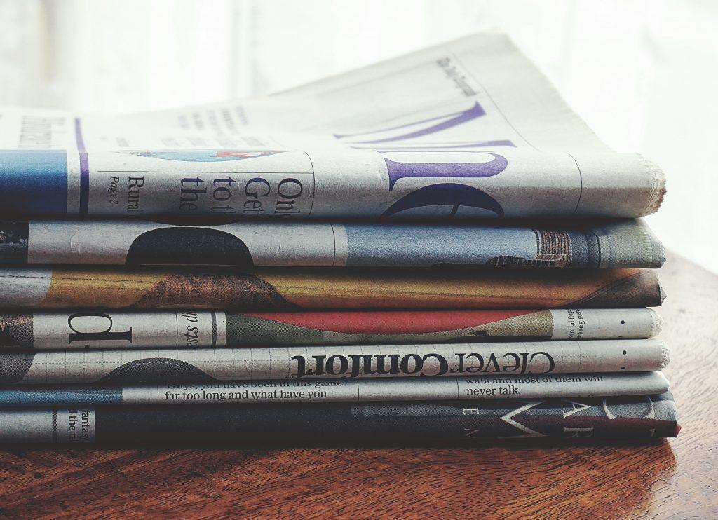 Publikationen in mehreren Zeitungen